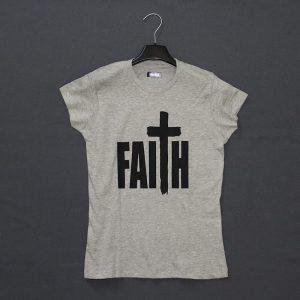 Христианская футболка с надписью - Faith / Вера
