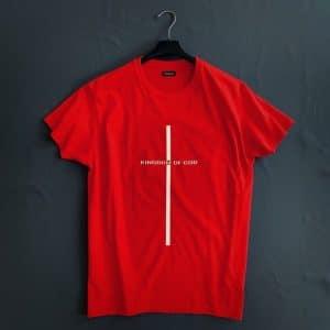 Христианская футболка с крестом - принт
