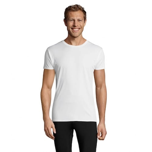 белая футболка полиестер